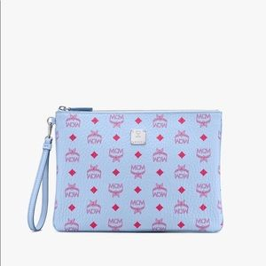 SOLD OUT🔥Authentic MCM Blue Bell Clutch Pouch